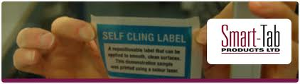 self cling labels